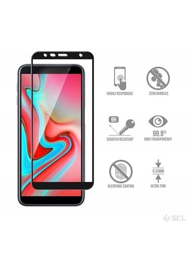 Microsonic Samsung Galaxy J6 Plus Tam Kaplayan Temperli Cam Ekran Koruyucu  Siyah
